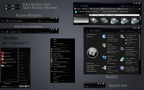 Tema Windows Vista Obsidian UmbrellaMOD.CoM