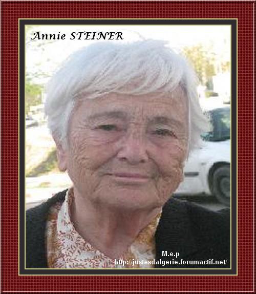 Annie STEINER , condamnée à la prison pour l'Algérie Steiner-18a04b9